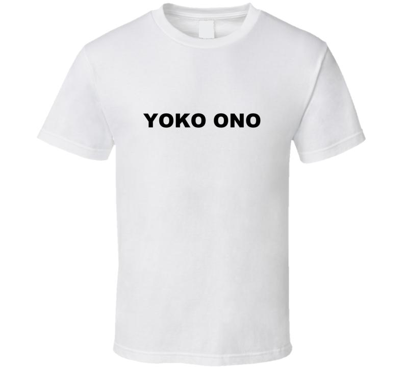 Yoko Ono as Worn by Jennifer Love Hewitt White T Shirt