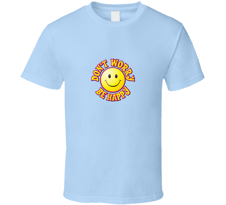 Don't Worry Be Happy Bobby McFarin Light Blue T Shirt