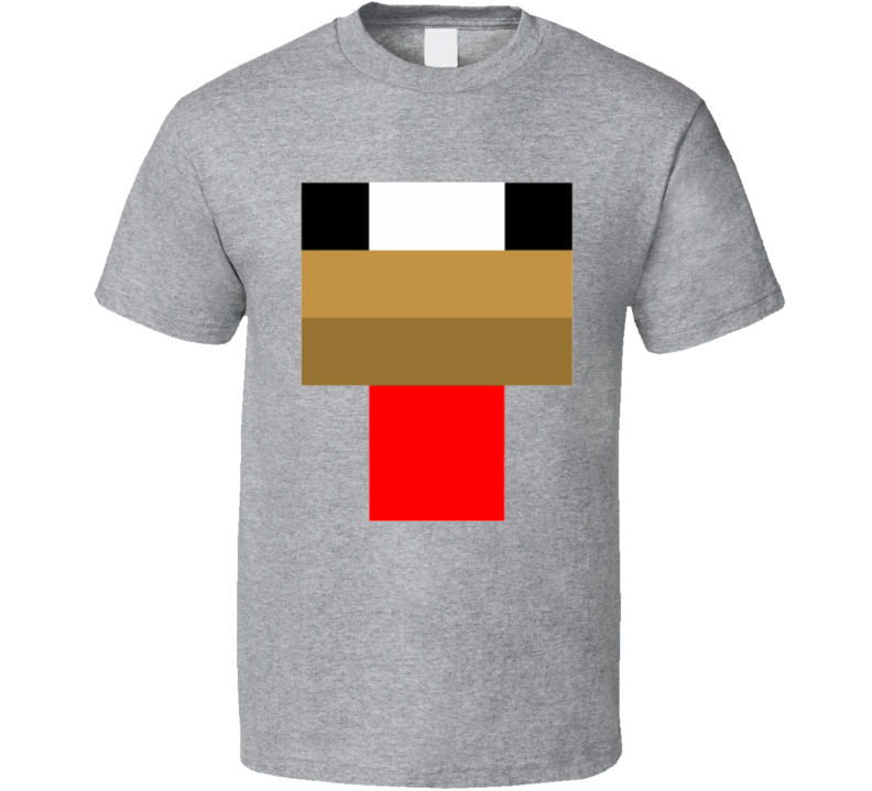 Minecraft Chicken Face T Shirt