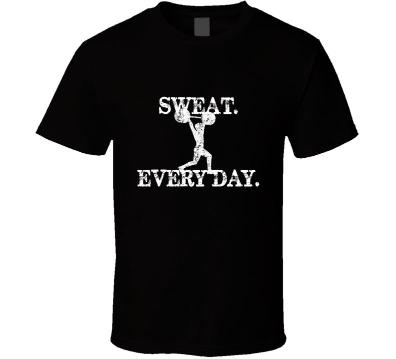 Sweat Every Day Workout Black T Shirt