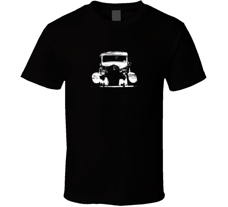 1937 Plymouth Truck Black Distressed T Shirt