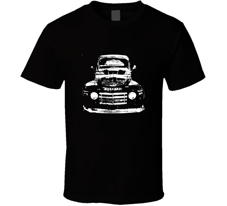 1950 Mercury Truck Distressed Black T Shirt