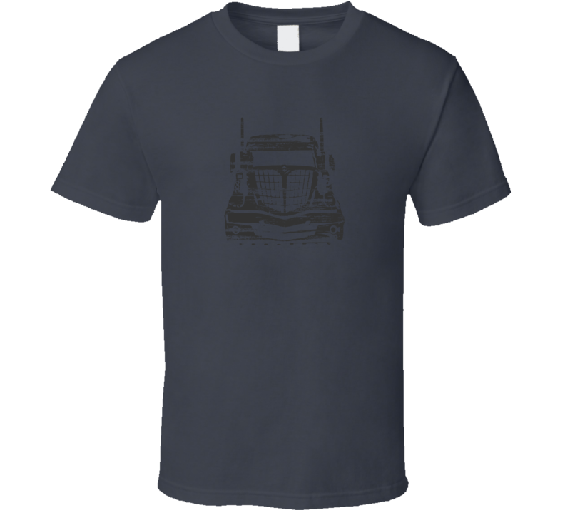 International Rig Distressed Charcoal T Shirt