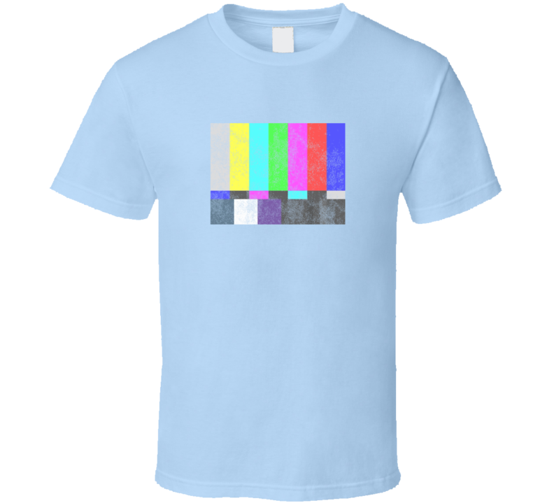 TV Test Pattern Sheldon Cooper Light Blue T Shirt