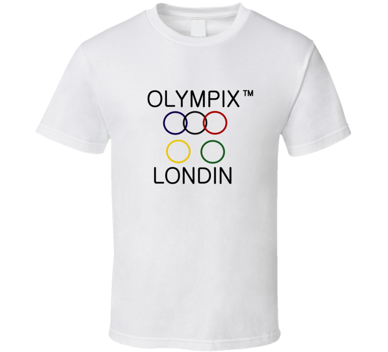 The League Taco Olympix Londin Olympics London White T Shirt