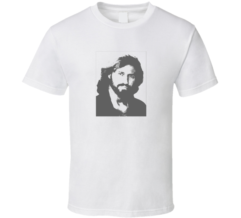Bee Gees Barry Gibb Faded Look White T Shirt