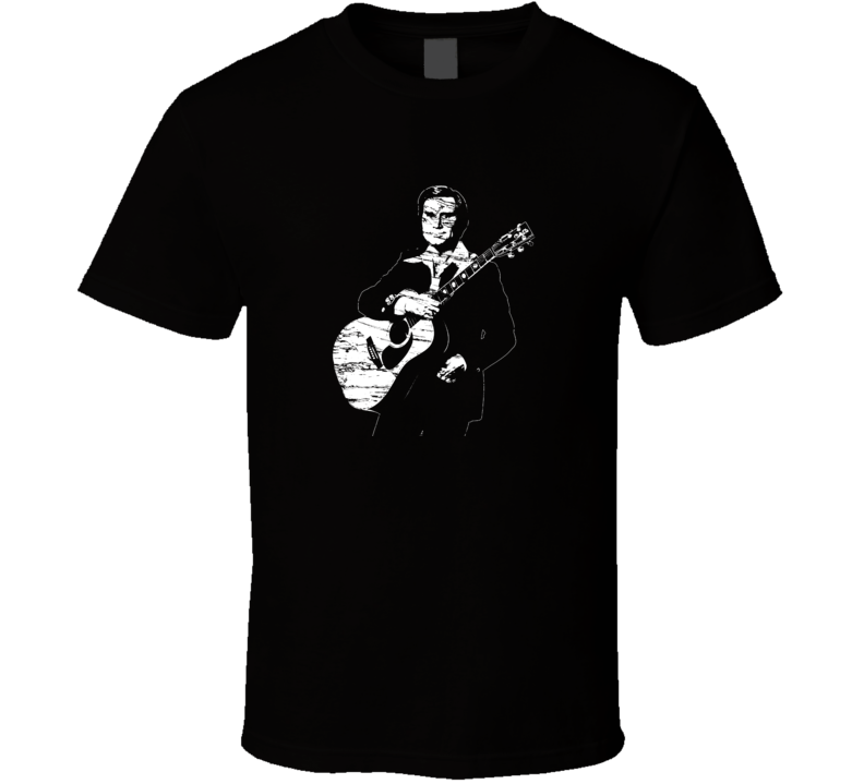 George Jones Distressed Black T Shirt