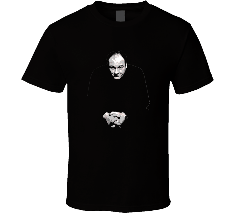 James Gandolfini Faded Look Dark T Shirt
