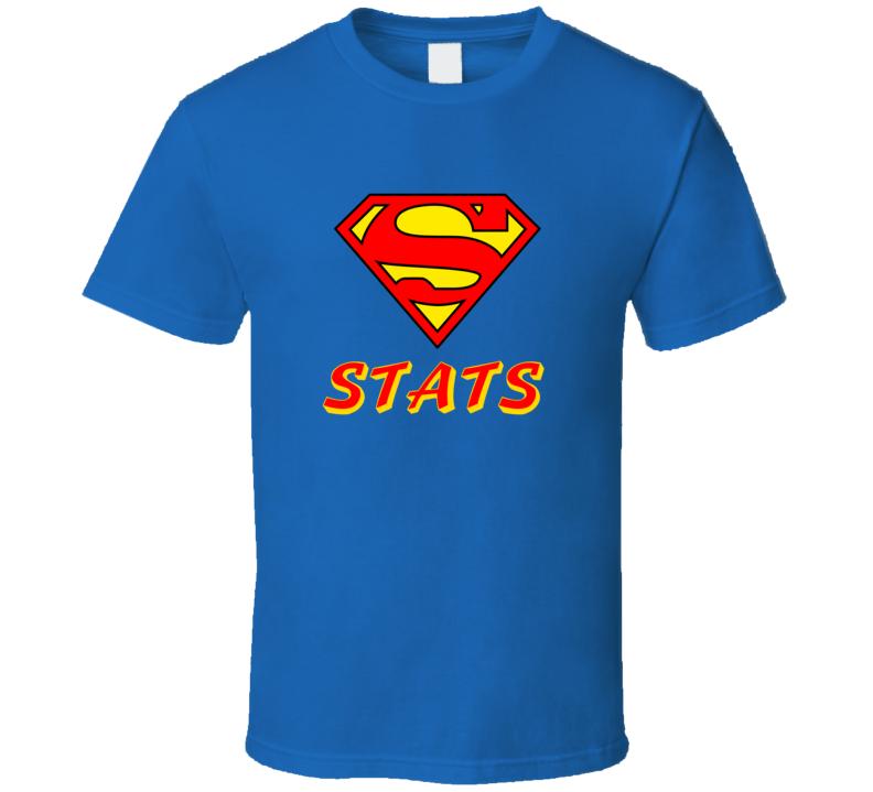 Supmerman Stats Royal Blue T Shirt