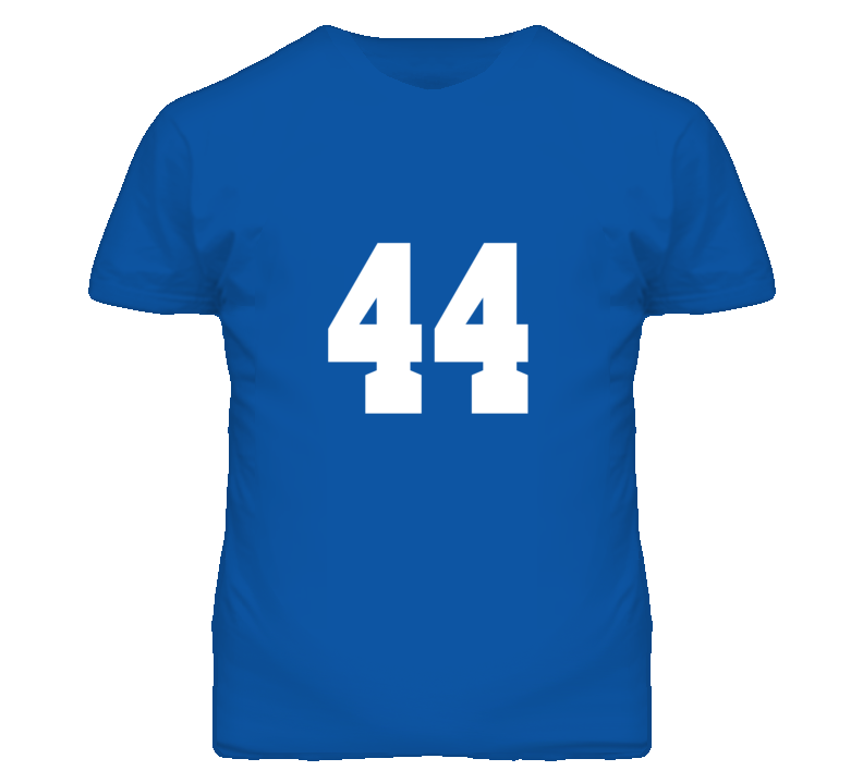 Sports Shirt Number 44 Royal Blue T Shirt