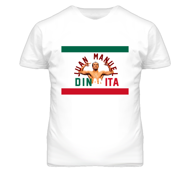Juan Manuel Marquez Dinamita Champion With Flag Colors T Shirt