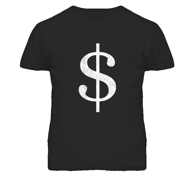 Jesse Pinkman Breaking Bad Distressed Look Dollar Sign T Shirt