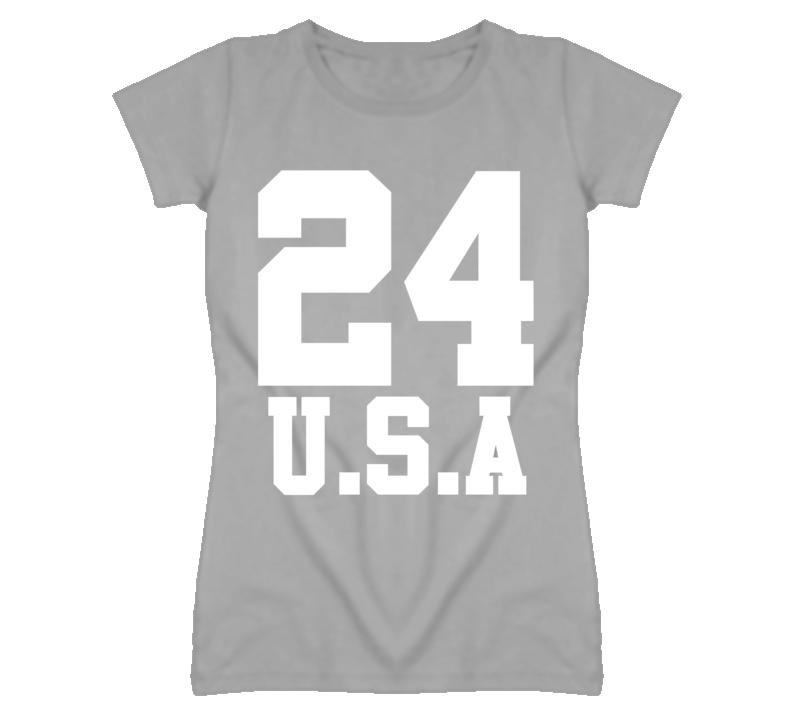 24 U.S.A Popular Ladies T Shirt