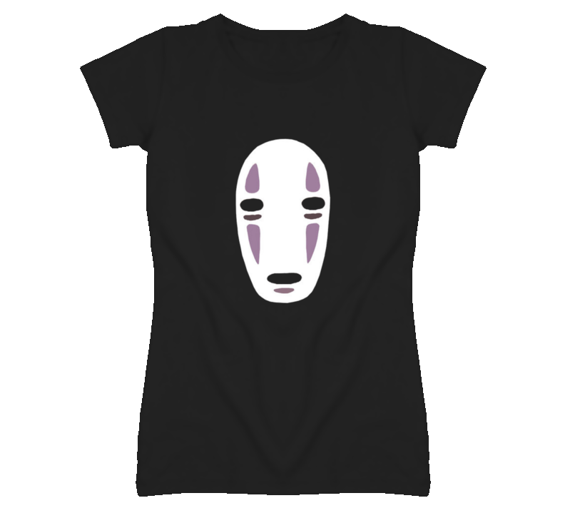 No Face Faded Look Black T Shirt