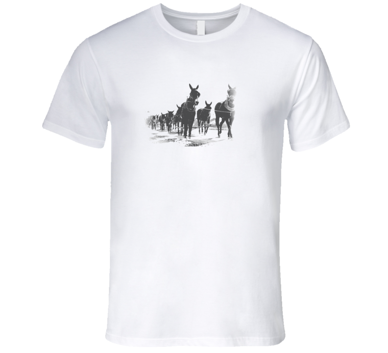 20 Mule Team Borax Mules Faded Look White T Shirt