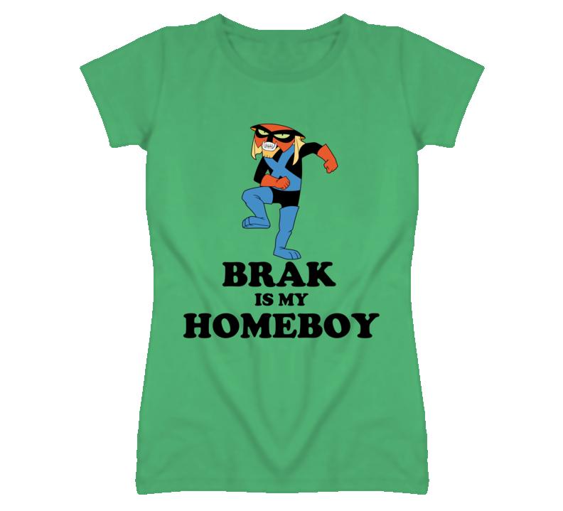 Brak Space Ghost Homeboy Funny Retro Cartoon Super Hero Faded Look T Shirt
