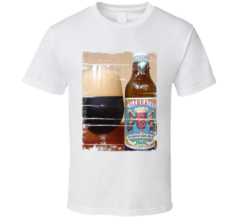 Ayinger Celebrator Dopplebock Label Distressed Image T Shirt