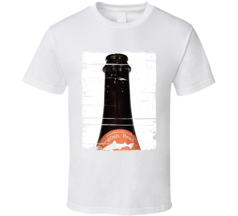 Dogfish Head Red and White Label Distressed Image T Shirt