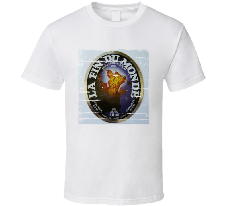 Unibroue 1837 Label Distressed Image T Shirt