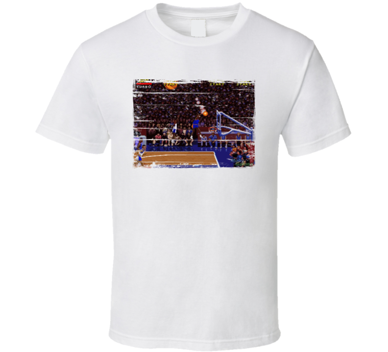 NBA Jam Retro Arcade Game Screenshot T Shirt