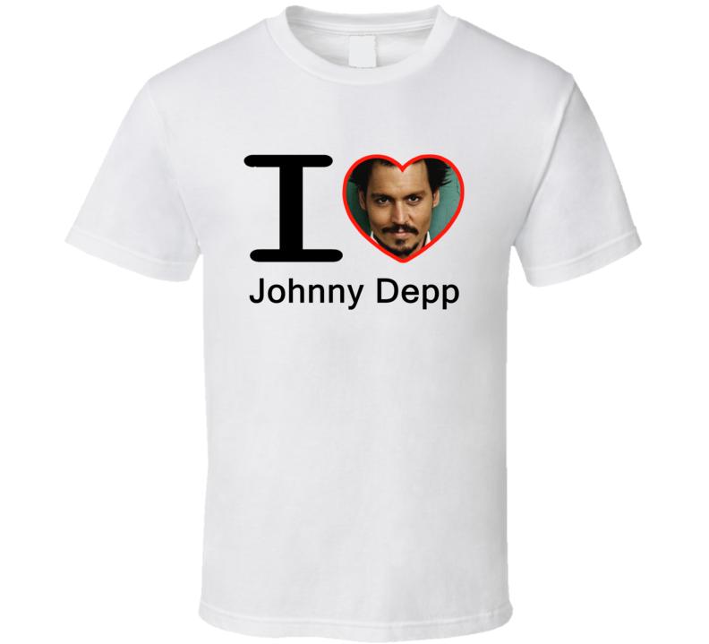 d0435fed I Heart Love Johnny Depp T Shirt