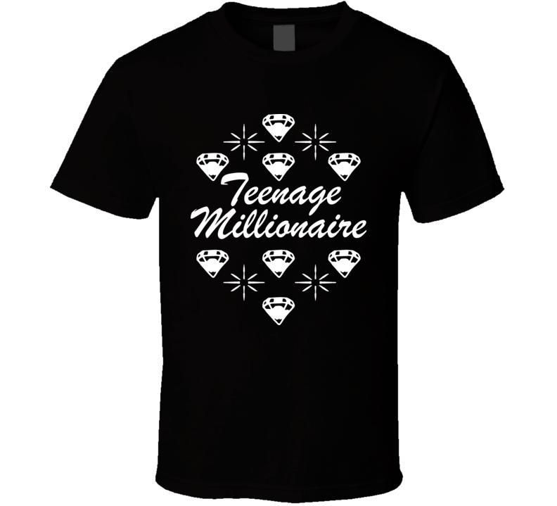 Paris Hilton Teenage Millionaire Black T Shirt