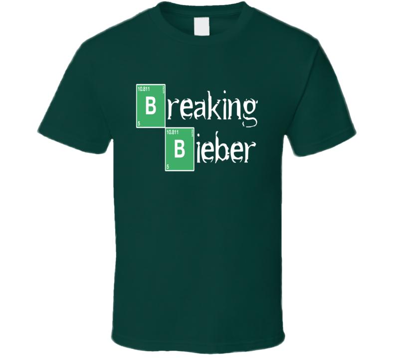 Breaking Bieber Breaking Bad Parody T Shirt