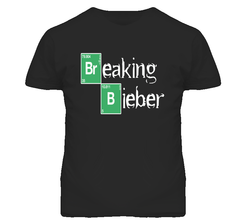 Breaking Bieber Breaking Bad Parody T Shirt