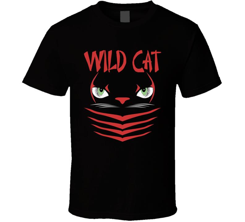 Rocky Balboa Sylvester Stallone Wild Cat Black T Shirt