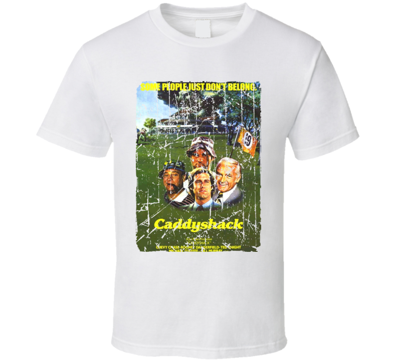 Caddyshack Movie Poster Retro Aged Look T Shirt