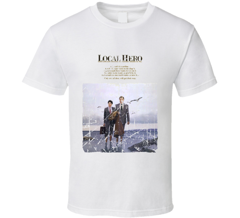 Local Hero Movie Poster Retro Aged Look T Shirt