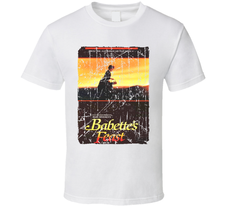 Babettes Feast Movie Poster Retro Aged Look T Shirt