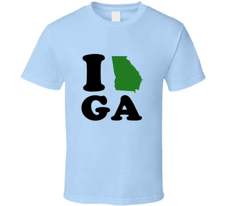 I Heart Love GA State Flag T Shirt