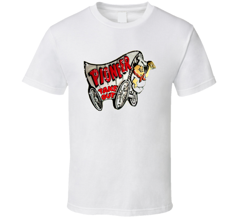 Pioneer Chicken Fast Food Restaurant Distressed Look T Shirt