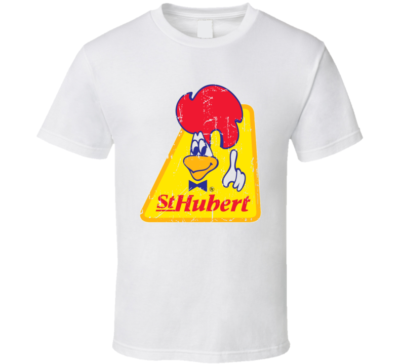 St-Hubert Fast Food Restaurant Distressed Look T Shirt