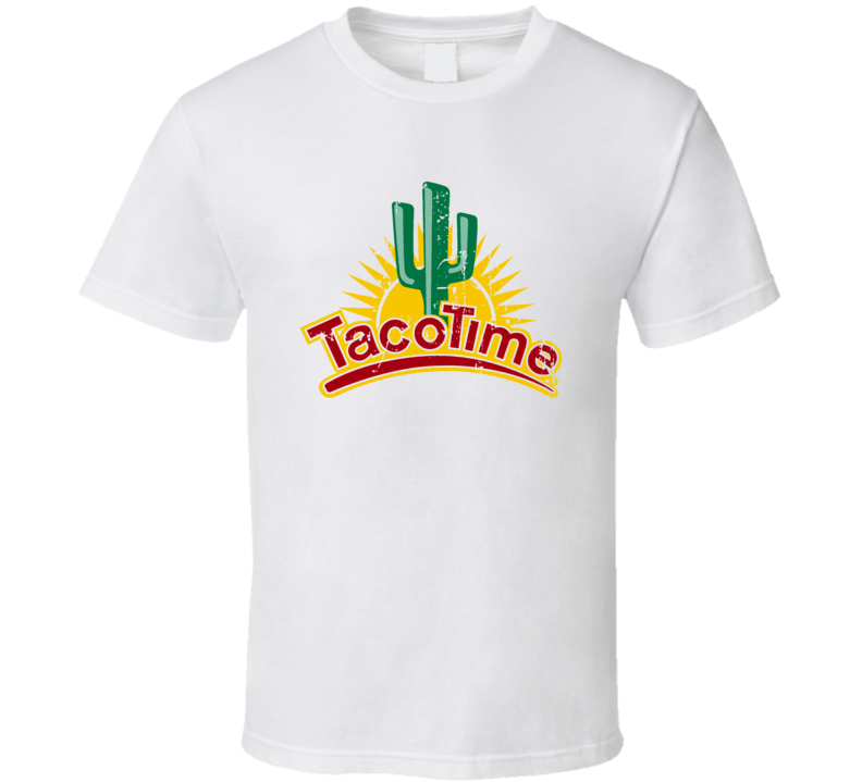 Taco Time Fast Food Restaurant Distressed Look T Shirt