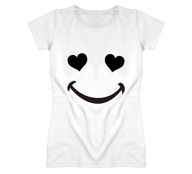 Heart Eyes Smile Cute Love Popular T Shirt