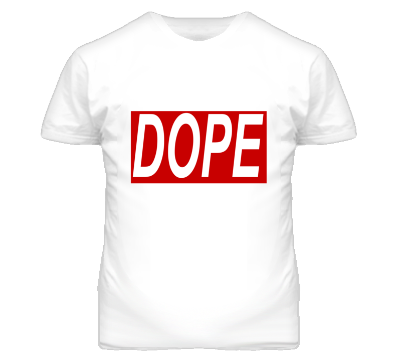 DOPE Red And White Popular T Shirt