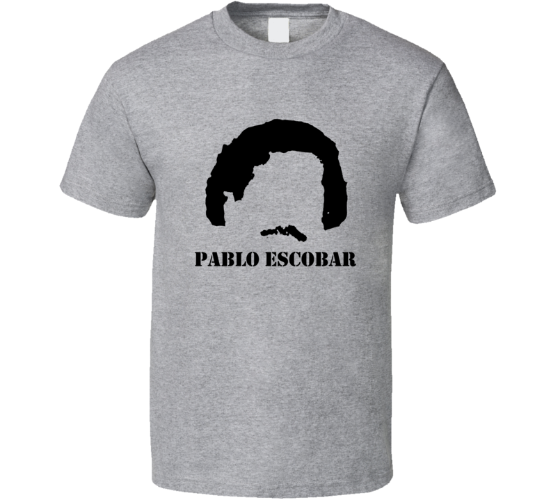 Pablo Escobar Diary Moustache Hair Netflix TV Parody T Shirt