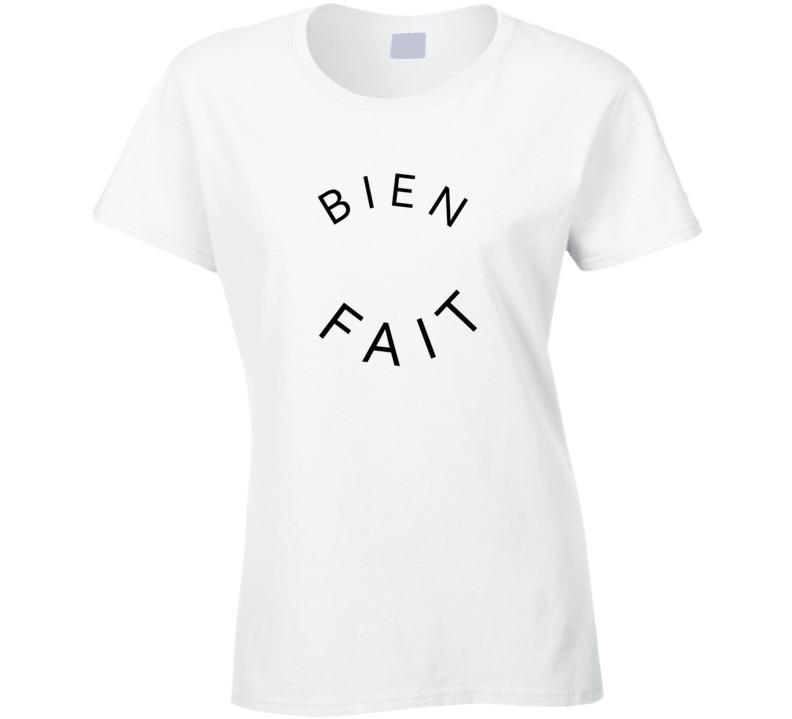 Bien Fait Jessica Biel Style White T Shirt