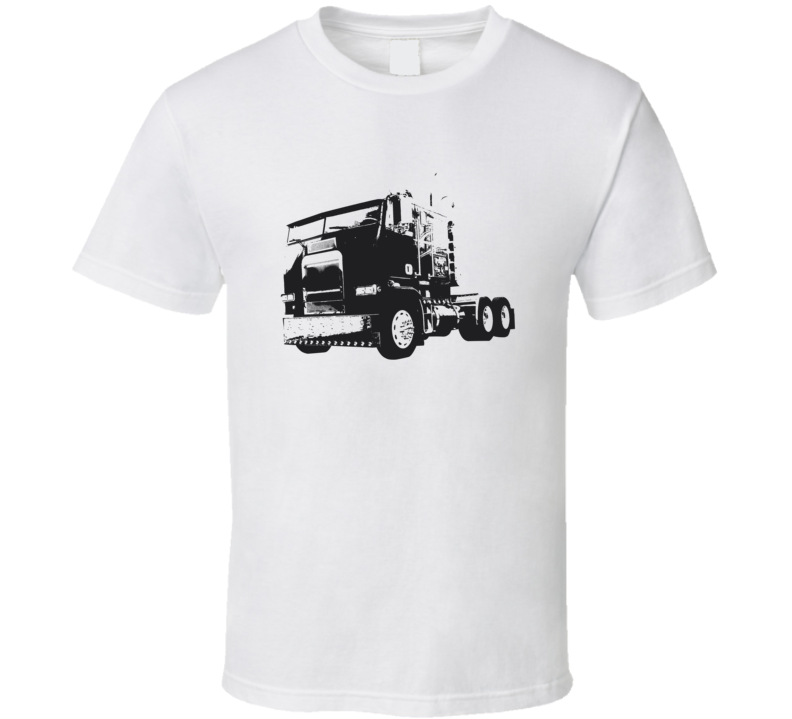 Cabover Semi Trailer Truck Light Color T Shirt