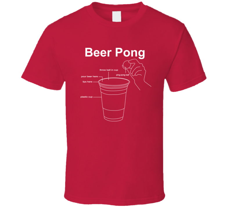 Channing Tatum Style Beer Pong Red T Shirt