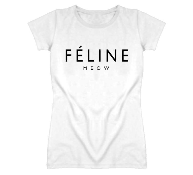 Feline Meow Funny Parody Popular Cat T Shirt