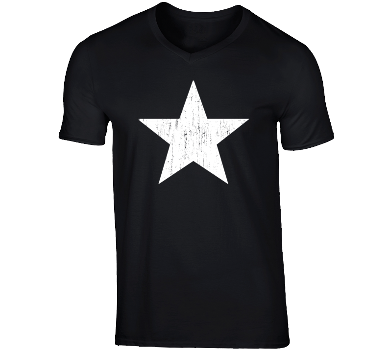 Distressed Star Keith Urban Style Idol Season 15 Faded Look V Neck T Shirt