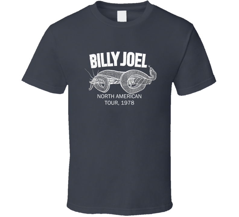 Billy Joel North American Tour Replica Swift Style Charcoal T Shirt