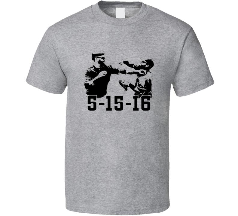 Jays Rangers Odor Bautista Brawl May 15 Baseball T Shirt