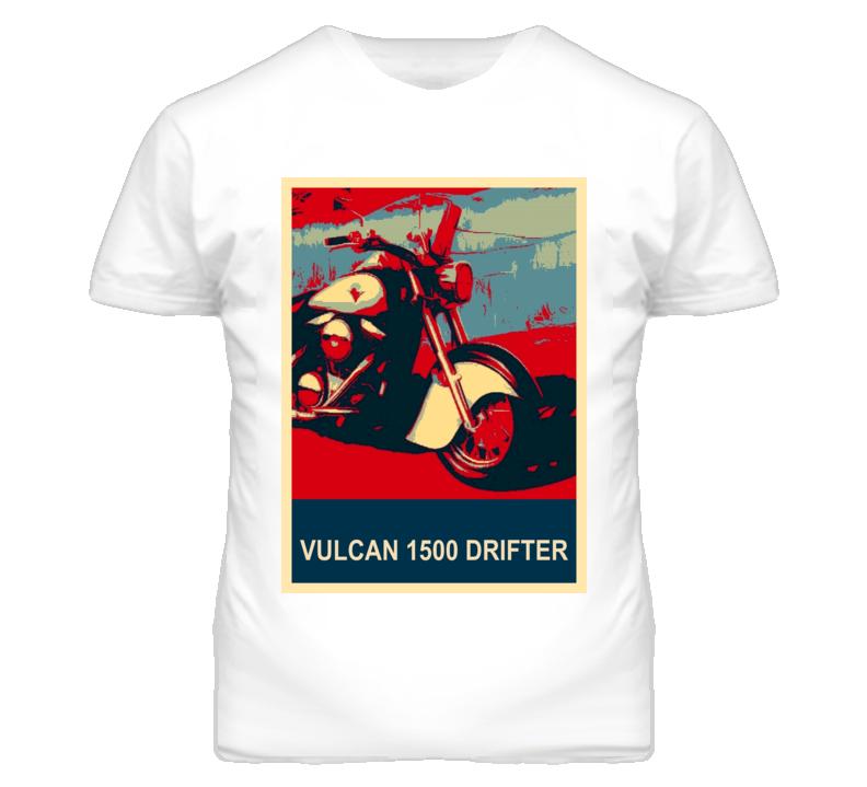 Kawasaki Vulcan 1500 Drifter Abstract Hope Style Motorcycle T Shirt