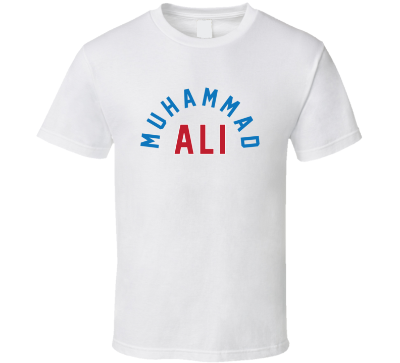 Muhammad Ali Blue & Red Text LIght Color T Shirt