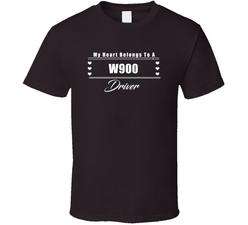 My Heart Belongs To A W900 Truck Driver Dark Color T Shirt