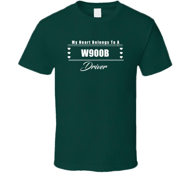 My Heart Belongs To A W900B Truck Driver Dark Color T Shirt